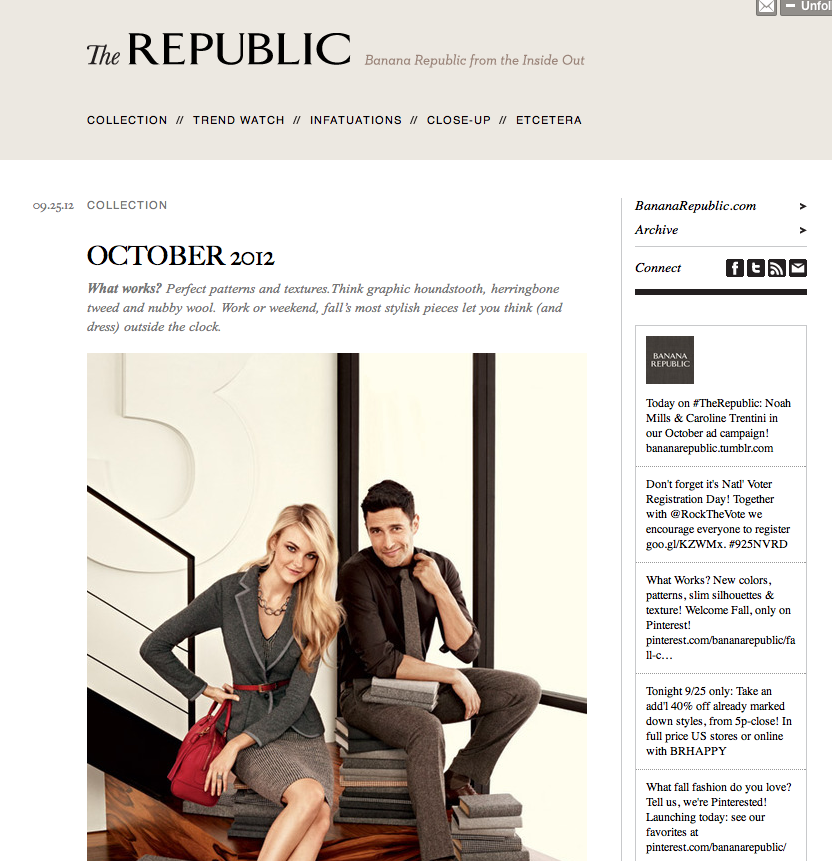 Top Tumblr Blogs Banana Republic