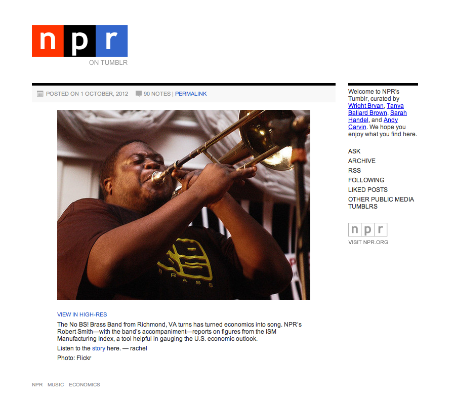 Top Tumblr Blogs NPR