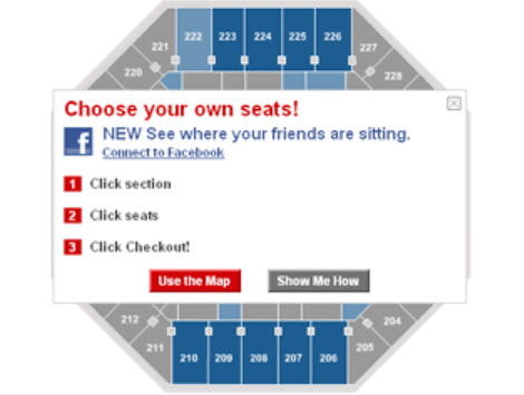Ticket Master Facebook Friends