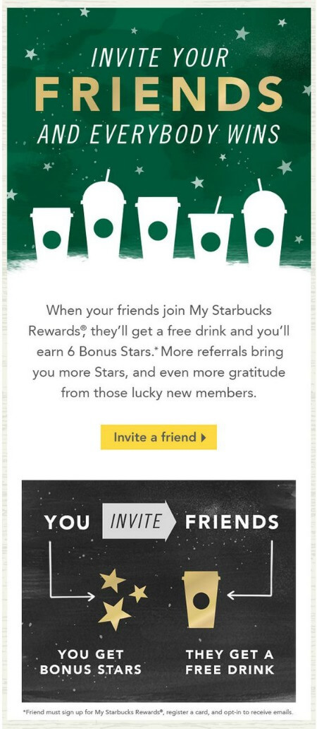 starbucks refer a friend bonus offer
