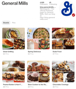 General Mills Pitches Product Via Pinterest