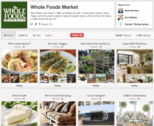 Pinterest Board for Whole Foods