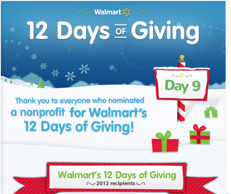 Walmart Holiday Giving Campaign