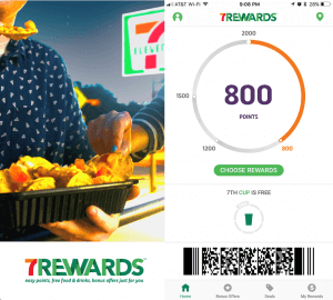 7Rewards members earn points and freebies on various product purchases