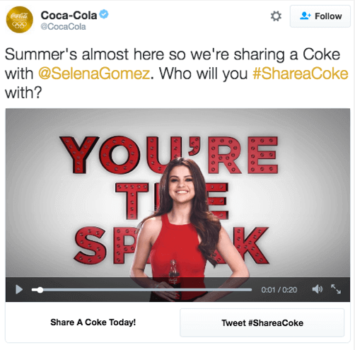 How Coca-Cola uses Twitter Ads