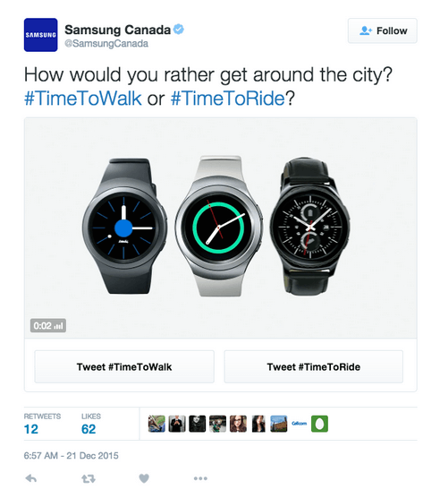 Samsung and Twitter Conversational Ads