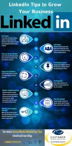 Linkedin for Business Tips Infographic