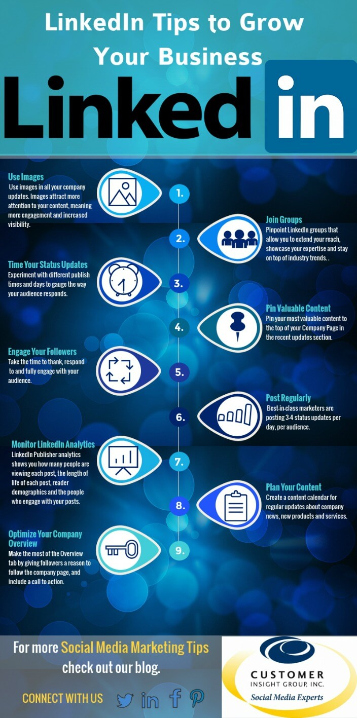 tips for building your brand linkedin infographic customer linkedin for business tips infographic