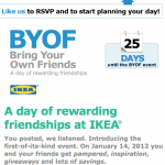 IKEA Rewards Facebook Fans Who Bring Their Friends to IKEA