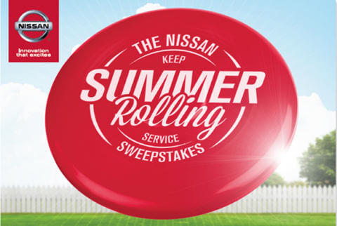Nissan Launches Keep Summer Rolling Service Sweepstakes