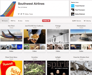 The Pinterest Brand Southwest Airlines Image