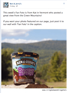 Ben & Jerry's Uses Photos Effectively