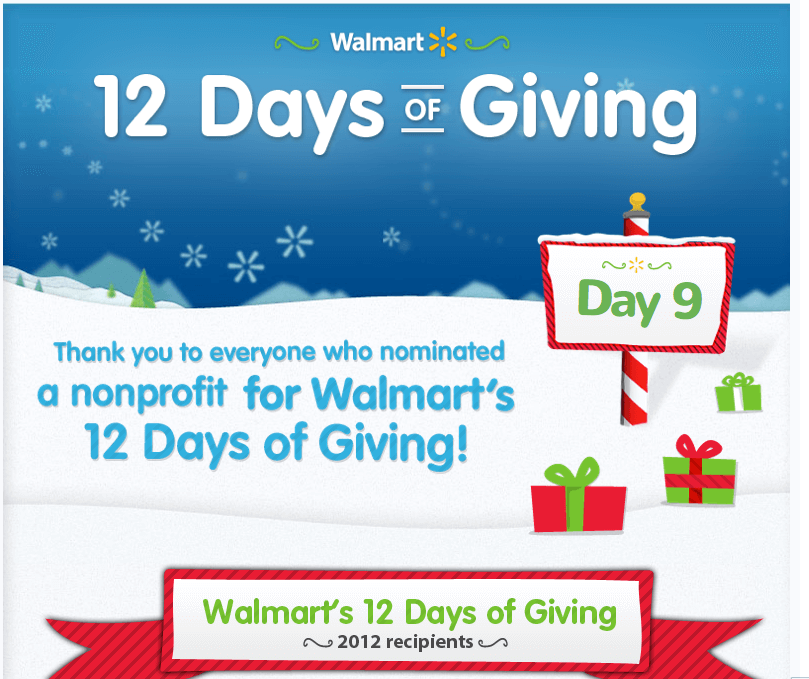 Walmart Egg-Nog Worthy Holiday Campaigns