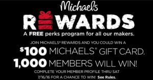 Michaels Rewards New Loyalty Member Offer