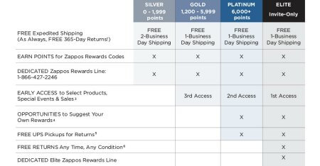 Zappos Tiered Loyalty Program