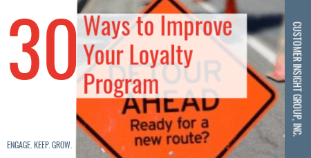 30 ways to improve loyalty program