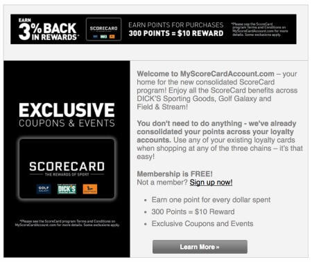 Dicks Sporting Goods Points Loyalty Program