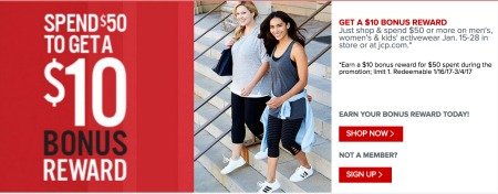 JCPenney Cash Back Loyalty Program