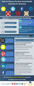 How to Choose the Best Social Media Channels for Business Infographic