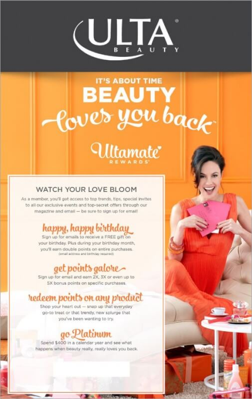 Ulta Beauty Loyalty Scheme Ultimate Rewards