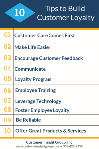 Infographic 10 Tips to Build Customer Loyalty