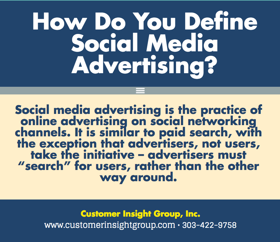 Definition of Social Media Advertising