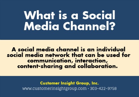 Definition of Social Media Channels