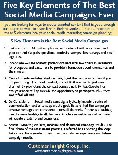 Five Key Elements of The Best Social Media Campaigns Ever