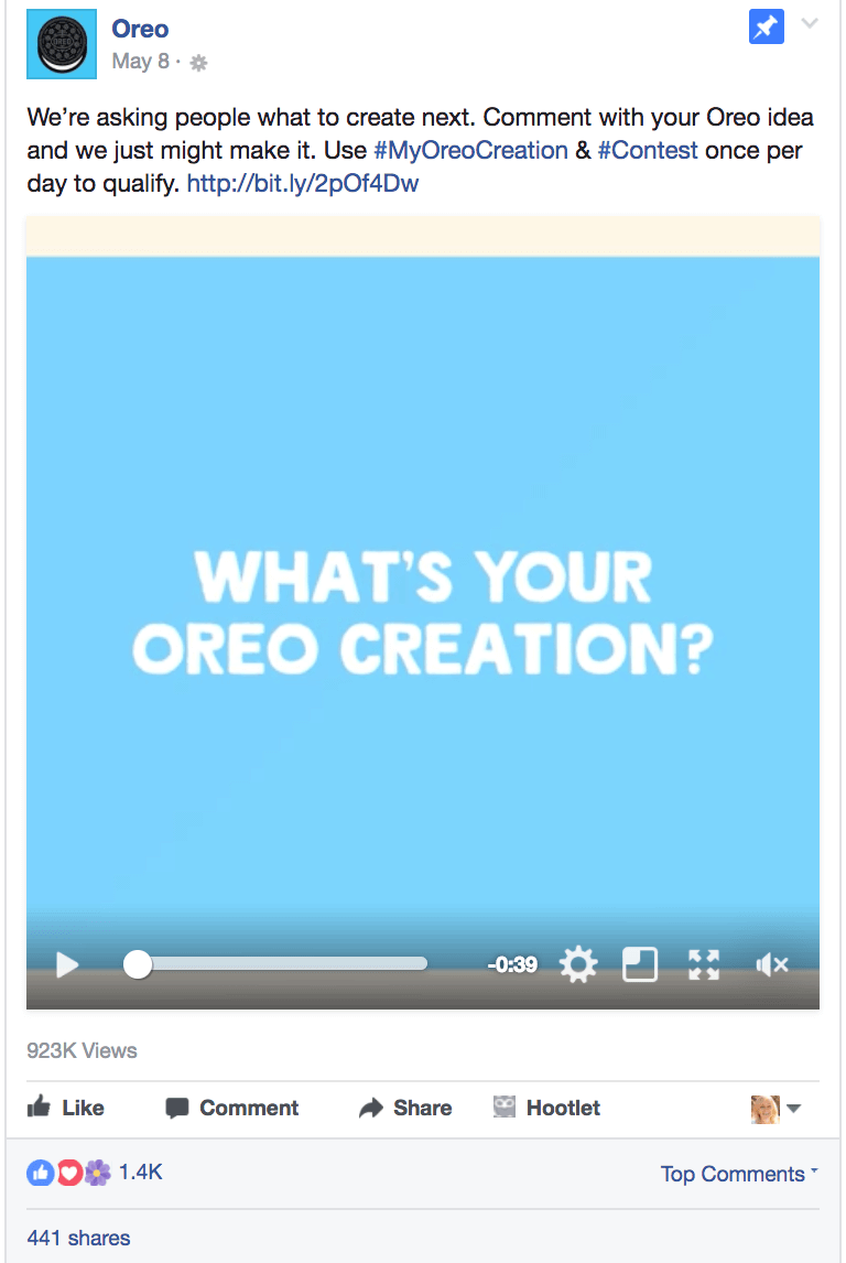 Oreo Uses Facebook for Business