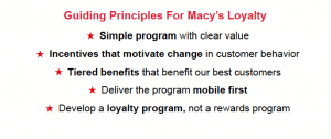 Macy's Guiding Principles for Customer Loyalty