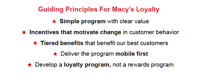 Macy's Principles for Customer Loyalty