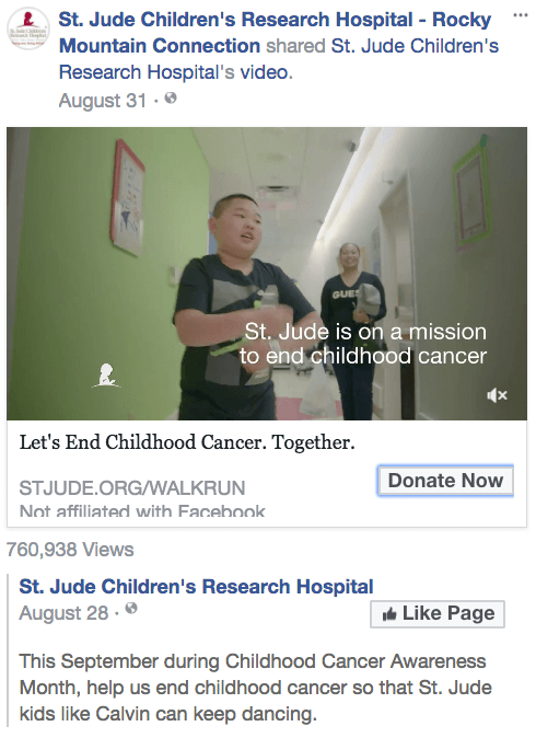 Donation Facebook Call to Action Post