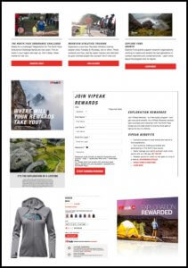 North Face VIPeak Rewards Loyalty Program