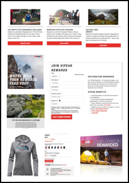 Loyalty Program Goals: North Face's direct to consumer business, comprising both its physical retail and e-commerce arms, was growing steadily year-on-year. This growth led the company to focus on enhancing direct customer engagement via a loyalty program, VIPeak. The program was designed to.