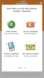 Benefist of Subway MyWay Rewards Program