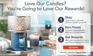 Yankee Candles Loyalty Program Rewards Social Enagement