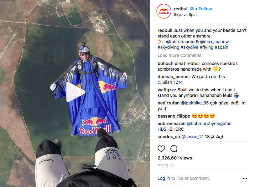 Red Bull Instagram Posts