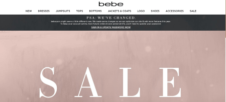 new Bebe online shopping experience