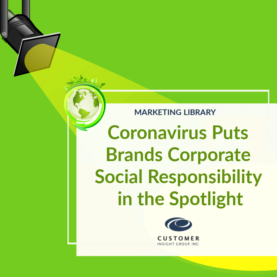 Brands and Corporate Social Responsibility and Coronavirus