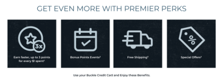 buckle credit card premier perks