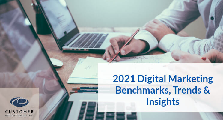 Research highlighting 2021 digital marketing benchmarks and trends
